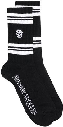 Alexander McQueen Skull Knitted Socks
