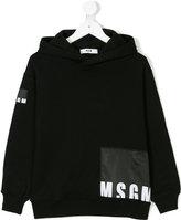 MSGM hooded logo sweatshirt
