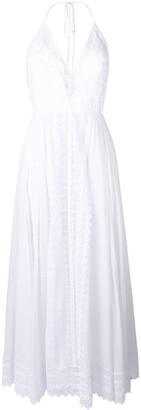 Charo Ruiz Ibiza Plunge Fluid Maxi Dress