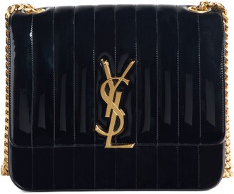 Saint Laurent Large Vicky Patent Leather Crossbody Bag