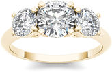 MODERN BRIDE 2 CT. T.W. Diamond 14K Yellow Gold 3-Stone Engagement Ring