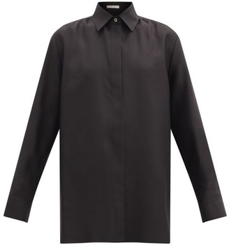 The Row Big Sisea Wool-blend Shirt - Black