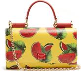 Dolce & Gabbana Watermelon-print leather cross-body bag
