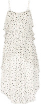 Maiyet Fluid Wave Printed Silk-crepon Midi Dress - White