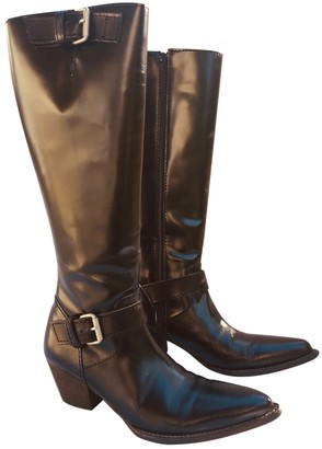 Junya Watanabe Black Leather Boots