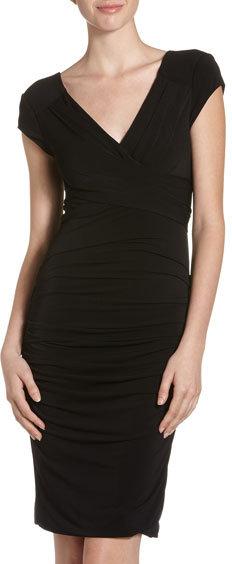 BCBGMAXAZRIA Vita Ruched Pleat Dress