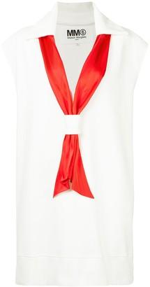 MM6 MAISON MARGIELA scarf detail dress