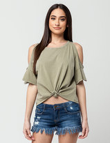 Others Follow Solana Womens Tie Front Top