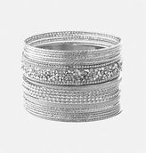 Avenue Stone Glitter Bangle Set