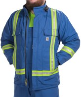 Carhartt Flame-Resistant Striped Duck Traditional Coat - Insulated (For Big and Tall Men)