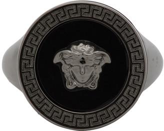 Versace SSENSE Exclusive Black Medusa Icon Ring