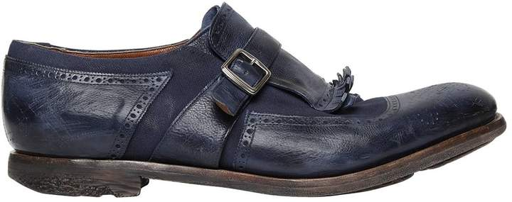 Church's Shanghai Washed Leather & Linen Shoes