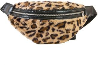 Area Stars Faux-Fur Leopard Belt Bag