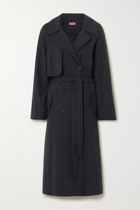 GAUGE81 Nairobi Pinstriped Wool-blend Trench Coat