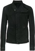 Rick Owens asymmetric denim jacket