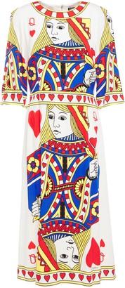 Dolce & Gabbana Printed Silk-blend Crepe De Chine Dress