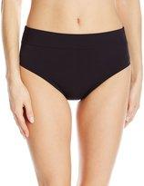 Caribbean Joe Women's Solid Shaping Tricot Bikini Bottom