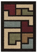 Orian Mapped Floor Multi-color Rug