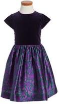 Oscar de la Renta Girl's 'Brushstroke Fleur' Mikado Party Dress