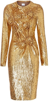 Burberry Hand-gathered Detail Sequinned Dress