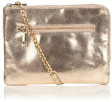 """Oasis LEATHER BONNIE CLUTCH [span class=""""variation_color_heading""""]- Gold[/span]"""
