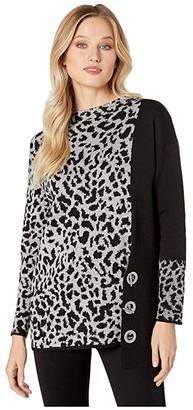 Nic+Zoe Spot On Toggle Top (Multi) Women's Sweater