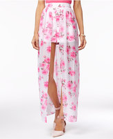 The Edit By Seventeen Juniors' Floral-Print Maxi Shorts, Only at Macy's