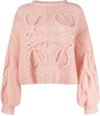 Loewe Knitted-Logo Long-Sleeve Jumper