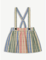 Burberry Check gathered cotton pinafore skirt 6-36 months