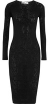 McQ Pointelle-Knit Midi Dress