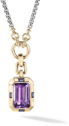 David Yurman Novella Pendant with Amethyst & 18K Yellow Gold