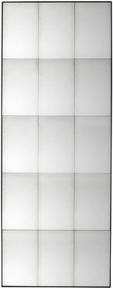 Bastien Antiqued Glass Rectangular Mirror, 160 x 62cm, Black