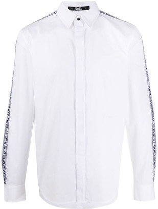 Karl Lagerfeld Paris Logo-Tape Dress Shirt