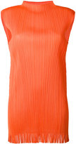 Pleats Please By Issey Miyake - ribbed fringed tank - women - Polyester - 3