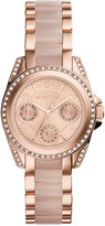 Michael Kors Women's Chronograph Mini Blair Blush and Rose Gold-Tone Stainless Steel Bracelet Watch 33mm MK6175