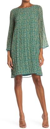 Max Studio Printed Pleated Dress