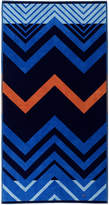 Tommy Hilfiger Velvet Zig Zag Beach Towel - Navy
