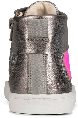 Clarks City Myth Kid High Top Trainer - Pewter