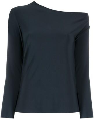 Norma Kamali Drop-Shoulder Long-Sleeved T-Shirt