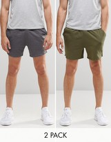 Asos Jersey Runner Shorts 2 Pack