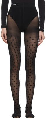 Balenciaga Black BB All Over Flock Tights
