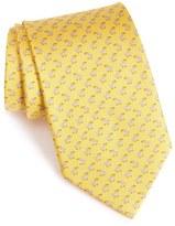 Salvatore Ferragamo Bird Print Silk Tie