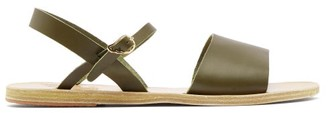 Ancient Greek Sandals Kaliroi Leather Sandals - Womens - Dark Green
