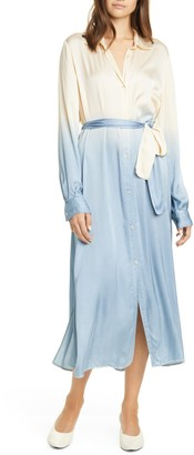 Forte Forte forte_forte Dip Dye Belted Long Sleeve Shirtdress