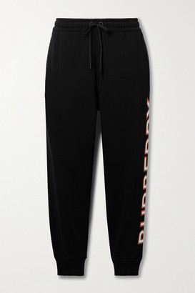 Burberry Appliqued Cotton-jersey Track Pants
