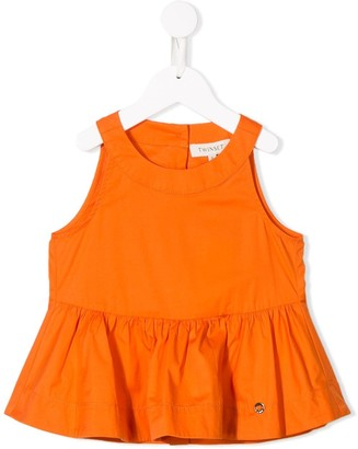 Twin Set Kids Cropped Ruffle Top