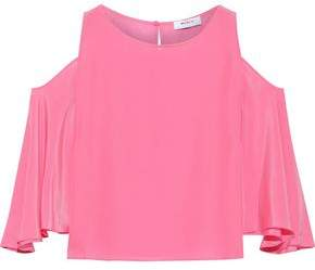 Bailey 44 Cold-shoulder Silk Top