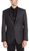 DKNY Men's Druce Check 2 Button Slim Fit Coat