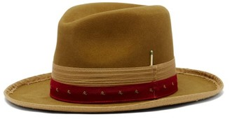Nick Fouquet Paris Texas Suede Fedora Hat - Beige