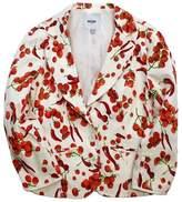 Moschino White & Red Veggie Print Cotton Blazer
